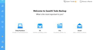 EaseUS Todo Backup Main Interface